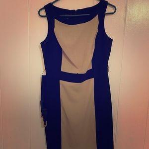 BCX Dresses - BCX Beige and Black dress